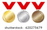 set of gold  silver and bronze... | Shutterstock .eps vector #620275679