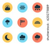climate icons set. collection... | Shutterstock .eps vector #620275889