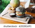 vegetarian burger made with... | Shutterstock . vector #620281691
