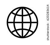 simple world   globe vector... | Shutterstock .eps vector #620283614