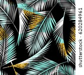 seamless exotic pattern with... | Shutterstock .eps vector #620284961