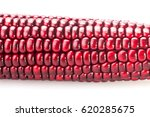fresh red color corn isolated... | Shutterstock . vector #620285675