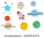 Planet And Object Space Cute...