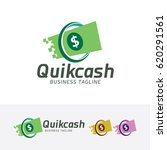 quick cash  vector logo template | Shutterstock .eps vector #620291561