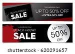 black friday sale banner set   Shutterstock .eps vector #620291657