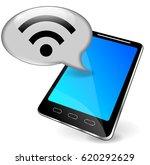 illustration of wifi phone... | Shutterstock .eps vector #620292629