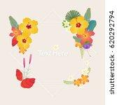 nature flower tropical leaf... | Shutterstock .eps vector #620292794