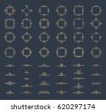 retro rosette and victorian... | Shutterstock .eps vector #620297174
