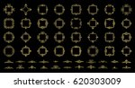 gold vintage decor elements and ... | Shutterstock .eps vector #620303009