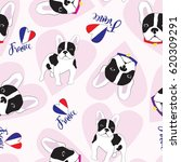 seamless pattern with french... | Shutterstock .eps vector #620309291