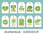 vegan  healthy food cards or... | Shutterstock .eps vector #620310119