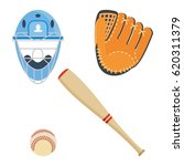 baseball equipment set. bat ... | Shutterstock .eps vector #620311379