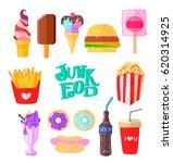 junk food icon design. flat...   Shutterstock .eps vector #620314925