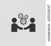 business meeting vector.... | Shutterstock .eps vector #620318147