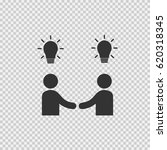 businessman meeting vector icon.... | Shutterstock .eps vector #620318345