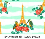 seamless paris pattern with... | Shutterstock .eps vector #620319635