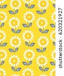 seamless floral pattern | Shutterstock .eps vector #620321927