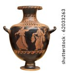 Ancient Greek Vase Isolated On...