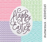 happy easter card with a... | Shutterstock .eps vector #620345165