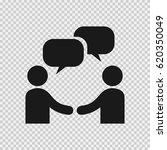 businessman meeting bubble... | Shutterstock .eps vector #620350049