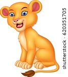 cartoon lioness isolated on... | Shutterstock .eps vector #620351705