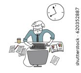 busy businessman working... | Shutterstock .eps vector #620352887