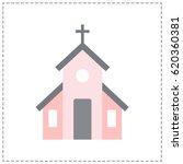 illustration of church | Shutterstock .eps vector #620360381