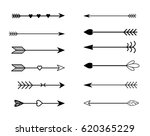 rustic arrow set  | Shutterstock . vector #620365229