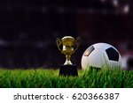 soccer field and stadium with... | Shutterstock . vector #620366387