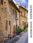 City cview of Assisi. Umbria.Iatly - stock photo