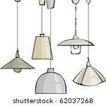 Vector Set Of Pendant Lamps
