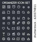 organizer icon set   Shutterstock .eps vector #620374811
