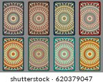 collection retro cards. ethnic... | Shutterstock . vector #620379047