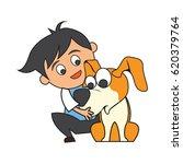 animal care concept  love ... | Shutterstock .eps vector #620379764