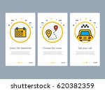 taxi booking or order... | Shutterstock .eps vector #620382359