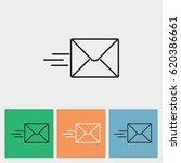 line icon  sending a message | Shutterstock .eps vector #620386661
