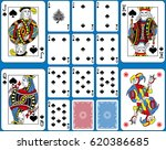 playing cards spades suite.... | Shutterstock .eps vector #620386685