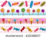 Four Border Designs Of Candies...