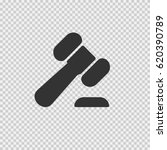 law hammer vector icon eps 10.... | Shutterstock .eps vector #620390789