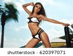 fashion women swimwear.... | Shutterstock . vector #620397071