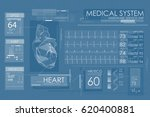 ultrasound and cardiogram.... | Shutterstock .eps vector #620400881