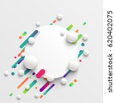 colorful blank template with... | Shutterstock .eps vector #620402075