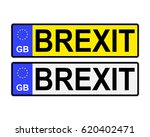 gb number plates with brexit... | Shutterstock .eps vector #620402471