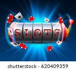 casino slots jackpot 777... | Shutterstock .eps vector #620409359