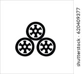 car wheels icon | Shutterstock .eps vector #620409377