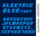electric blue font letters and... | Shutterstock .eps vector #620413931