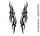 tattoo sketch tribal vector... | Shutterstock .eps vector #620419331