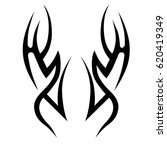 tribal tattoo art designs.... | Shutterstock .eps vector #620419349