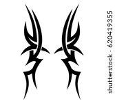 tribal tattoo art designs.... | Shutterstock .eps vector #620419355