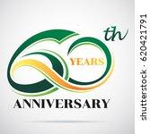 60 years anniversary... | Shutterstock .eps vector #620421791
